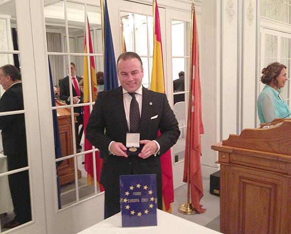 Foro Europa 2001 premia al tosiriano Pedro Javier Higueras